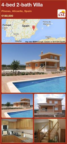 4-bed 2-bath Villa in Pinoso, Alicante, Spain ►€180,000 #PropertyForSaleInSpain