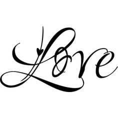 """Love"" script font"