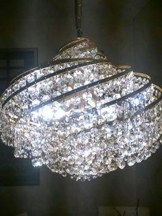 Kronleuchter , ca 50cm breit , Kristall und Messing