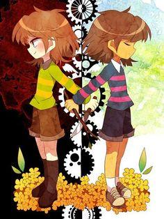 Undertale, Frisk, and Chara Anime Undertale, Undertale Ships, Frisk, Pokemon, Toby Fox, Underswap, The Villain, Manga, Game Art