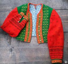 Folkdräkts tröja från Gagnef, Dalarna.