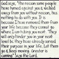 God Say's The Reason Some People Have Turned Agaisnt You & Walked Away From You Without Reason - Religion Quote