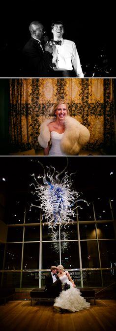 Chic Winter Wedding at The Mint Museum Charlotte, North Carolina - Photo by Caroline Gheto