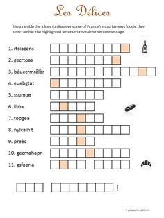 here is a fun word scramble that will help build french vocabulary it contains 12 jumbled words. Black Bedroom Furniture Sets. Home Design Ideas