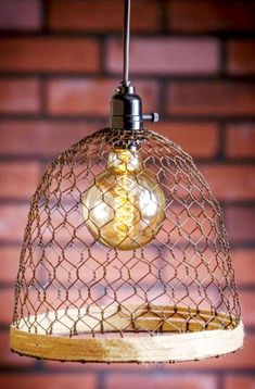 Rusty wire lamp shade frames to use for outdoor chandelier wire rust chicken wire hemp swag lamp 10wx12h greentooth Image collections