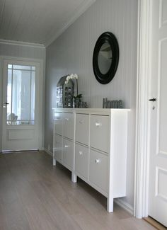 Slim storage solution & counter top space in hallway