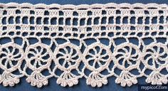MyPicot | Free crochet patterns | Edging with circles