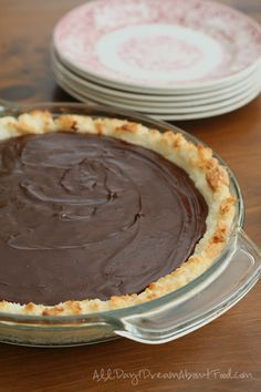 Low Carb Chocolate Ganache Macaroon Tart Recipe | All Day I Dream About Food
