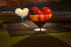 2014 Hearts in San Francisco sculptures