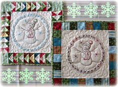 A Sweet Little Snowman PDF Quilt Block pattern From Quilt Doodle Designs on Etsy, $4.00