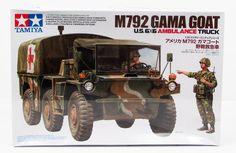 Gama Goat Ambulance Truck Tamiya 35342 New Military Model Kit Tamiya Model Kits, Tamiya Models, Plastic Model Kits, Plastic Models, Ambulance Truck, Moab Jeep, Army Day, Texaco, Military Weapons