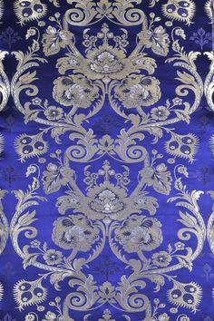 brocade fabric | Textiles > Fabrics > Wisteria-Blue Tibetan Lotus Brocade Fabric from ...