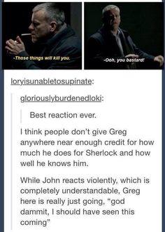 Love Lestrade foreverandeveramen