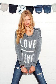 #sweaters #denim