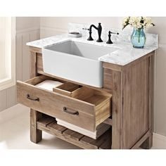 "Buy Fairmont Designs Napa 36"" Farmhouse Vanity - Sonoma Sand at ModernBathroom.com. Get free shipping and factory-direct savings on Fairmont Designs Napa 36"" Farmhouse Vanity - Sonoma Sand."
