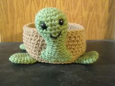 Crochet Turtle Bowl Pattern  This is a PDF pattern only. $4.95, via Etsy.