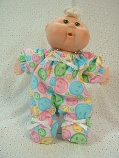 Cabbage Patch Newborn / Baby Alive Doll Clothes - Pajama Sleeper | loveyourdoll - Dolls & Miniatures on ArtFire