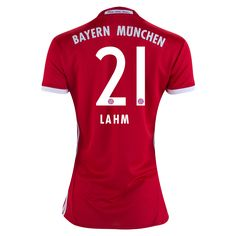 Bayern Munich 16/17 LAHM Women's Home Soccer Jersey    | $100.45 | Holiday Gift & Stocking Stuffer ideas for the FC Bayern Munich fan at WorldSoccerShop.com