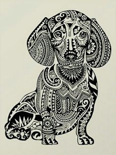"""Receive fantastic recommendations on """"dachshund pups"""". They are offered for you on our site. Dachshund Tattoo, Arte Dachshund, Dachshund Love, Weenie Dogs, Doggies, Dog Art, Dog Love, Zentangle, Fur Babies"""