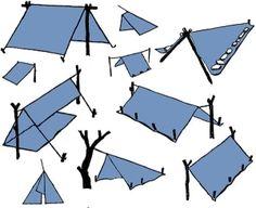 Using a tarp. by KathleenTo