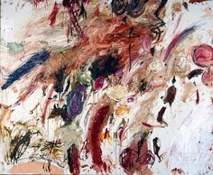 Cy Twombly. Ferragosto V, 1961, Rome. Oil paint, wax crayon, and lead pencil on canvas