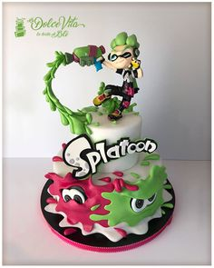Splatoon, colors are life - cake by AppoBli