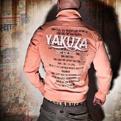 Neue Yakuza Herren Road Crew Trainingsjacke Zipper - Papaya Punch