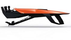 The KTM Barracuda Hydrofoil has been conceived as a circuit racing machine for the water. Extremely agile, yet designed to be self-stabilizing, the Barracuda takes the philosophy of the superbike and X-BOW sportscar to the water. Yacht Design, Boat Design, Speed Boats, Power Boats, Speed Fun, Kayak For Beginners, Hover Bike, Cool Boats, Motor Yacht
