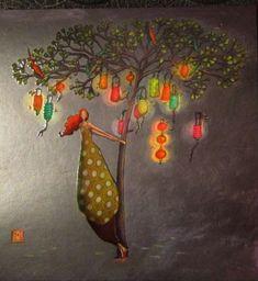 Gaelle Boissonard Art Carte, Illustrator, Art Calendar, Whimsical Art, Pretty Pictures, Fine Art Paper, Flower Art, Art For Kids, Folk Art
