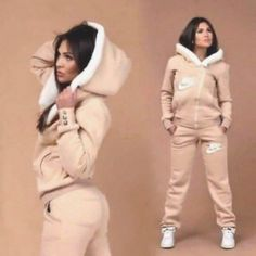 Top jumpsuit nike tracksuit jacket pink nike track suit women outfit brown white tan.