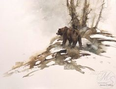 M. Solberg Sr. Watercolor