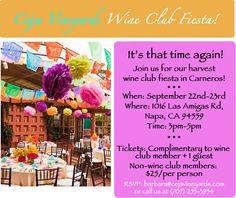 Join our wine club! www.cejavineyards.com