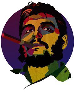 """Ilustración│WPAP│Ernesto """"Che"""" Guevara. 0 Art Projects For Teens, Toddler Art Projects, Che Guevara Tattoo, Che Guevara Photos, Comics Vintage, Ernesto Che Guevara, 480x800 Wallpaper, Panda Wallpapers, Image Fun"""