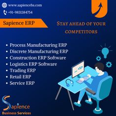 Sapience Business Services is an esteemed organization, engaged in development of ERP projects for manufacturing industries like Wires & Cables Manufacturing, Non Woven Fabrics Manufacturing, Garments Manufacturing etc. call at +91-9831384754 or email us at info@sapiencebs.com. visit our website at www.sapiencebs.com #erpforgarmentsmanufacturing #erpfornonwovenfabricsmanufacturing #erpforpvcproductsmanufacturing #erpforwiresandcablesmanufacturing #erpforlogistics #erpfortransportcompanies Garment Manufacturing, Website Design Company, Software Development, Digital Marketing, Fabrics, Organization, Business, Projects, Tejidos