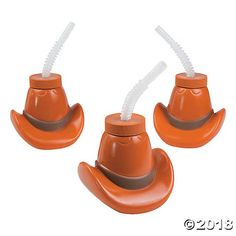 3745b850b8424 Giddy up with your favorite refreshment with these Cowboy Hat Cups With  Lids   Straws.