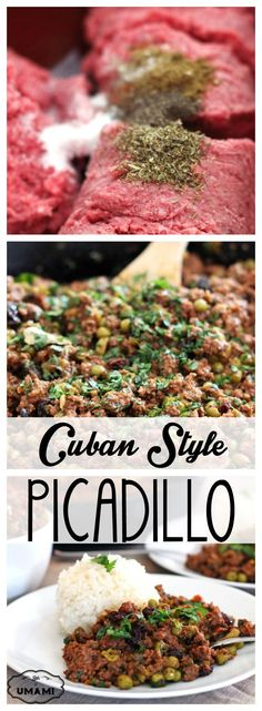 Cuban Style Picadillo — This authentic Cuban Picadillo recipe brings a hodepodge of ingredients together to create one of the best tasting versions. Both simple and delicious!