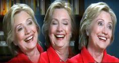 Creepy Clinton Preparing Insanity Defense? - Mentioning FBI Evokes Odd, Maniacal Cackle In Response