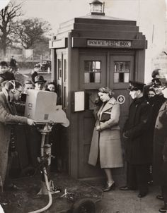 BBC making programme about driving errors. It's so strange to see a Police telephone box out of a Doctor Who context! Doctor Who, Ninth Doctor, Dr Who, Bbc, Police Box, Police Call, Don't Blink, Matt Smith, Time Lords