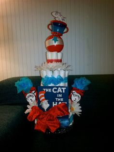 Cat In The Hat Diaper Cake Ideas