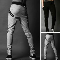 Boy Male Training Gym Jogging Sports Skinny Sweat Pants Men Trousers Harem Pants in Clothes, Shoes & Accessories, Men's Clothing, Trousers | eBay