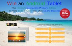 Win A 4G Android Tablet + Business Information Products ($500 Prize Value) - 10/1 (WW)