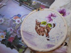 Peinture à l'aiguille réalisée par Ghislaine