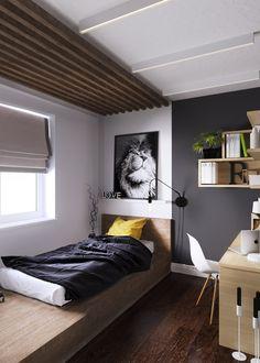New bedroom attic design guest rooms Ideas Apartment Interior, Apartment Design, Home Bedroom, Bedroom Decor, Bedroom Loft, Bedroom Ideas, Bedrooms, Master Bedroom, Home Interior Design