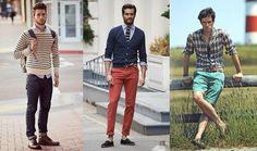 Moda para homens altos e magros.