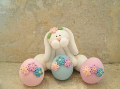 Bunny and Easter Eggs - Figurines