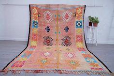 Moroccan Vintage Rug, 305 X 210 Cm || 10.01 X 6.89 Feet, Moroccan Rug, Berber Carpet, Free Shipping | Boujaad Tribe | Vinterior Berber Carpet, Summer Sale, Home Textile, Best Brand, Vintage Rugs, Moroccan, North America, Bohemian Rug, Textiles