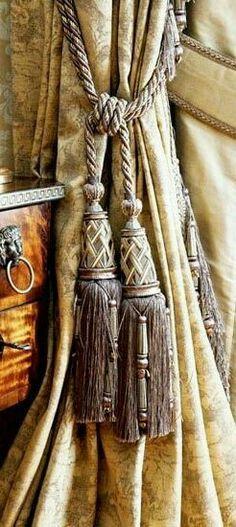 Elegant window tassels