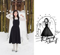Endless snow. (by Nancy Zhang) http://lookbook.nu/look/4763459-Endless-snow-Comme-Des-Gar-ons-Dress-Manolo-Blahnik-Flats