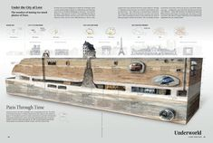 Around the World: The atlas for today Information Design, Information Graphics, National Geographic, Underground Paris, Travel Around The World, Around The Worlds, The Catacombs, Science Illustration, Make Your Own Logo