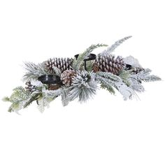 Snowy Pine Cone Candle Holder | Christmas - Barker & Stonehouse